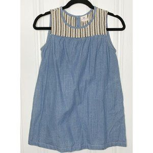 Hayden Girls Chambray Embroidered Tunic Top Girls